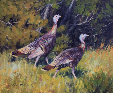 Bill Alther- Fall Turkeys-10 x 12 $1500 2