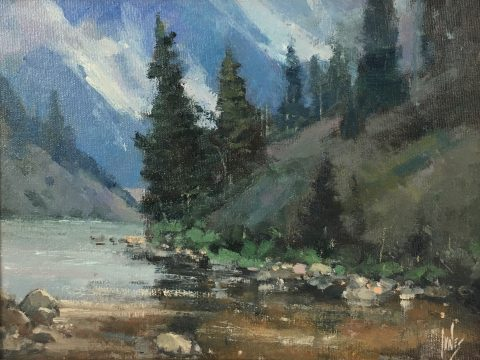 Rusty Jones-Riverbed Fog-9x12-$900